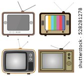 set of retro tv  retro tv icon  ...   Shutterstock .eps vector #528281278