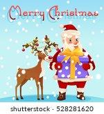 christmas card. santa claus...   Shutterstock .eps vector #528281620