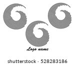 set of round shape logo design... | Shutterstock .eps vector #528283186