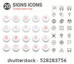 signs vector icons   travel and ...