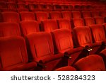 Interiors Empty Reddish Cinema...