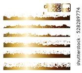 set of grunge and ink stroke... | Shutterstock .eps vector #528289774