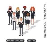 business people set 36  working ... | Shutterstock .eps vector #528295474
