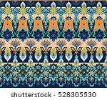 ethnic vector flower borders | Shutterstock .eps vector #528305530
