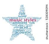 music styles. word cloud  five... | Shutterstock .eps vector #528309094