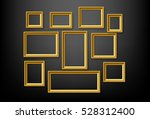 set of gold picture frame on... | Shutterstock .eps vector #528312400