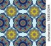 seamless pattern with mandalas... | Shutterstock .eps vector #528315244