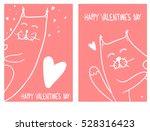 set of valentine's day vector... | Shutterstock .eps vector #528316423