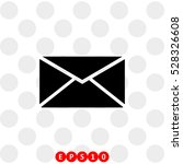 icon of envelope or message on... | Shutterstock .eps vector #528326608