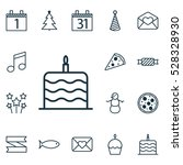 set of 16 holiday icons. can be ...   Shutterstock .eps vector #528328930