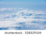cloud and blue sky view from... | Shutterstock . vector #528329104