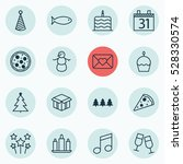 set of 16 holiday icons. can be ... | Shutterstock .eps vector #528330574