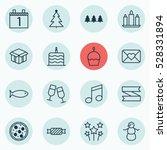 set of 16 celebration icons.... | Shutterstock .eps vector #528331894