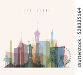 Stock vector transparent styled las vegas state nevada skyline detailed silhouette trendy vector illustration 528335164