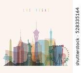 transparent styled las vegas... | Shutterstock .eps vector #528335164