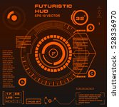 futuristic orange virtual...