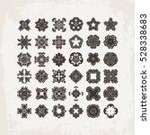 set of ornate vector mandala... | Shutterstock .eps vector #528338683