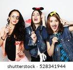 stylish sexy hipster girls best ... | Shutterstock . vector #528341944