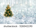 christmas pine tree with silver ... | Shutterstock . vector #528342190