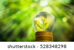fresh small tree growth on gold ... | Shutterstock . vector #528348298