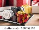 tablet and headphone best... | Shutterstock . vector #528352138
