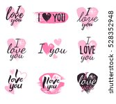 i love you message and heart... | Shutterstock .eps vector #528352948