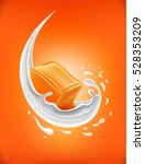 milk splash with caramel candy | Shutterstock .eps vector #528353209