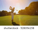pro golf player shot ball from... | Shutterstock . vector #528356158