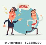 angry boss and employer... | Shutterstock .eps vector #528358330
