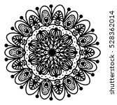 hand drawing doodling mandala... | Shutterstock .eps vector #528362014