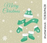 christmas card with christmas... | Shutterstock .eps vector #528369628