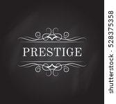 vintage calligraphic logo...   Shutterstock .eps vector #528375358