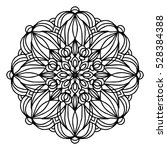 hand drawing doodling mandala... | Shutterstock .eps vector #528384388