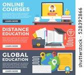 online courses  distance...   Shutterstock .eps vector #528392866