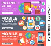 pay per click  mobile commerce  ... | Shutterstock .eps vector #528394249