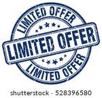 limited offer. stamp. blue... | Shutterstock .eps vector #528396580