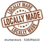 locally made. stamp. brown... | Shutterstock .eps vector #528396610