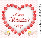 valentine's day background with ... | Shutterstock .eps vector #528399259