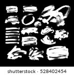 set of 20 white ink hand... | Shutterstock . vector #528402454