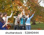 group of teenage friends... | Shutterstock . vector #52840444
