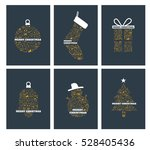 christmas icons holiday... | Shutterstock .eps vector #528405436