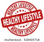 healthy lifestyle. stamp. red... | Shutterstock .eps vector #528405718