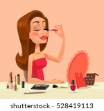 beautiful woman character doing ... | Shutterstock .eps vector #528419113