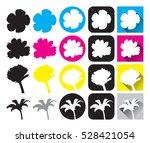 flower isolated vector  black... | Shutterstock .eps vector #528421054