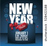 new year sale marketing... | Shutterstock .eps vector #528422188