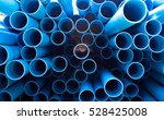 blue pvc tubes in storage ... | Shutterstock . vector #528425008