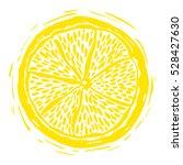 sketch dry citrus in vintage... | Shutterstock .eps vector #528427630