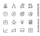 business and finance icons with ... | Shutterstock .eps vector #528430258