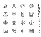 business and finance icons with ... | Shutterstock .eps vector #528430270