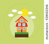 house family home energy... | Shutterstock .eps vector #528432346